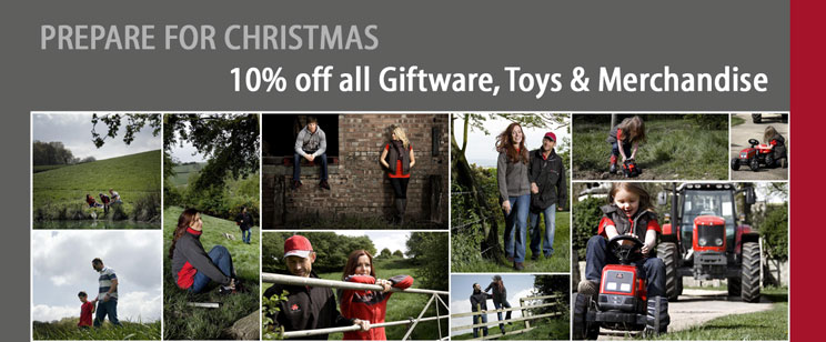 10% Off Massey Ferguson clothing, toys and merchandise